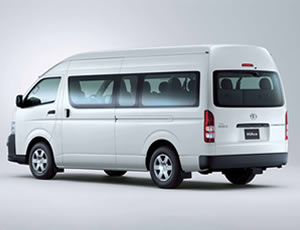 Toyota 14 seat minibus for hire and rent